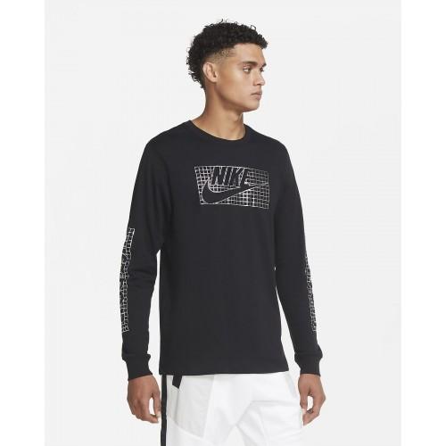 Мъжка блуза Nike M NSW LS TEE FUTURA FOIL