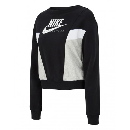 Дамскa блуза Nike W NSW HERITAGE CREW FLC